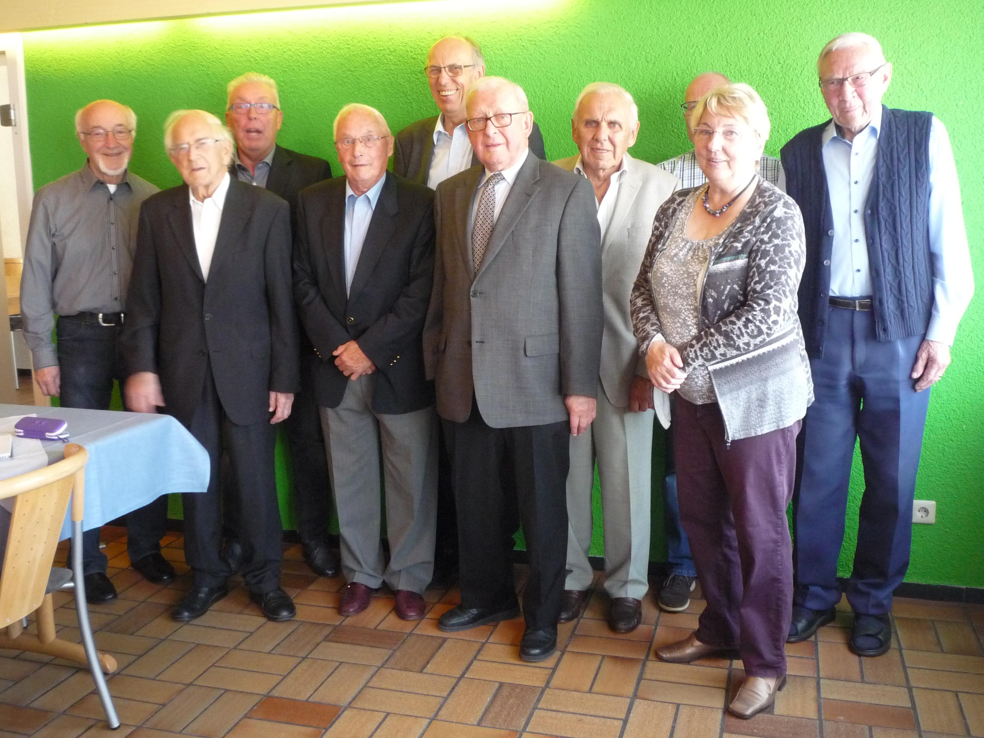70 Jahre Mitgliedschaft, Vorstand und Ehrenrat